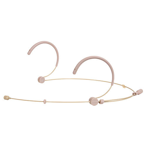 Galaxy Audio HSM3-OBG-4SEN Dual Ear Omni-Directional Headset Microphone for Sennheiser with 4x Sennheiser Cables, Beige