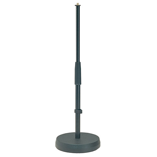 K&M Stands 233 Table/Floor Microphone Stand Black