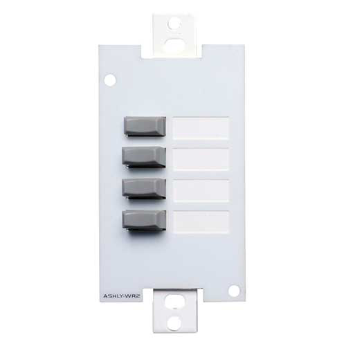 Ashly WR-2 Wall Remote, 4-position pushbutton select, Decora style