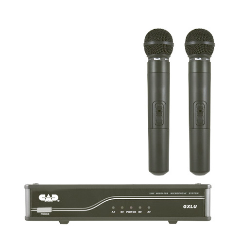 CAD GXLUHHL UHF Wireless Dual Cardioid Dynamic Handheld Microphone System L Frequency Band