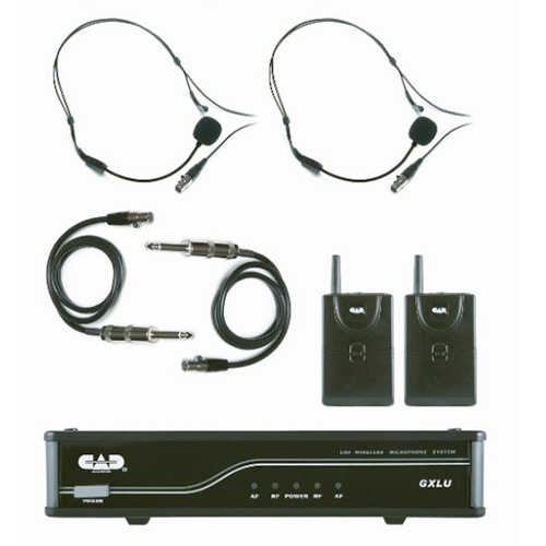 CAD GXLUBBL UHF Wireless Dual Bodypack Microphone System L Frequency Band