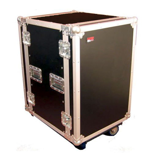 "Gator G-TOUR 16U CAST ATA Wood Flight Rack Case; 16U; 17"" Deep; w/ Casters"