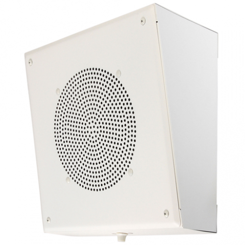 "Quam Speakers SYSTEM 3/VC  Wall Mounted Square installation 8"" Speaker with Volume Control, White"