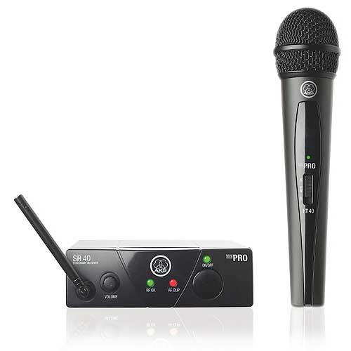 AKG WMS40MINI Vocal Set BD US25B  Plug & play wireless handheld microphone system, Frequency 25B 537.900 MHz