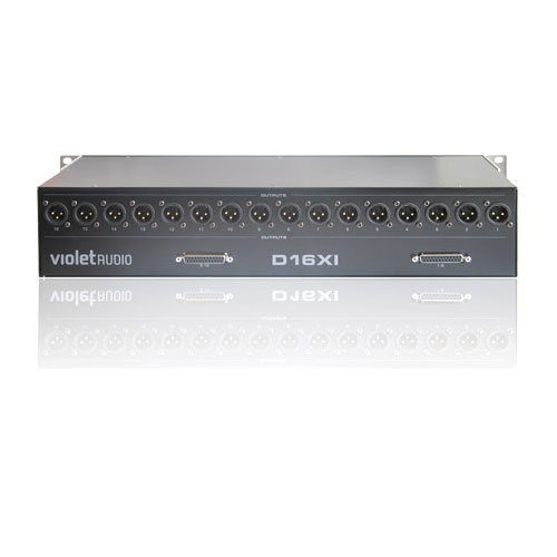Violet Audio DX16XI 16 Channel 2U Microphone Splitter with 25-Pin D-Sub, Closeout Item