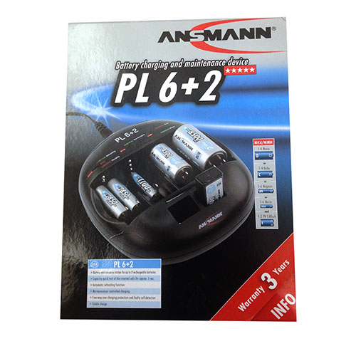 Ansmann PL 6+2 Battery Charger 1001-0044-US