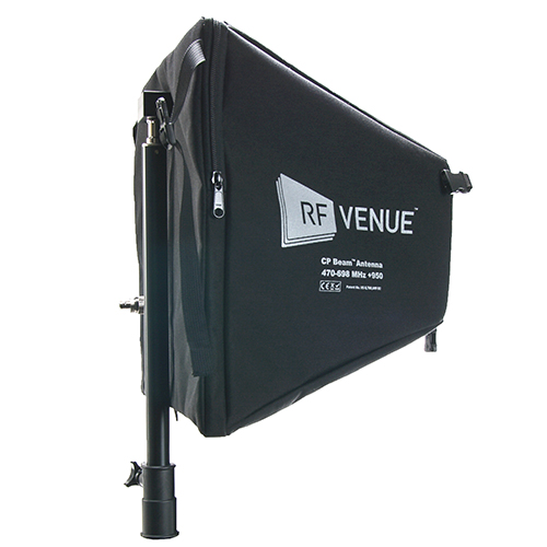 RF Venue CPB CP Beam, High Gain, Folding Helical directional UHF antenna in a lightweight, portable package.