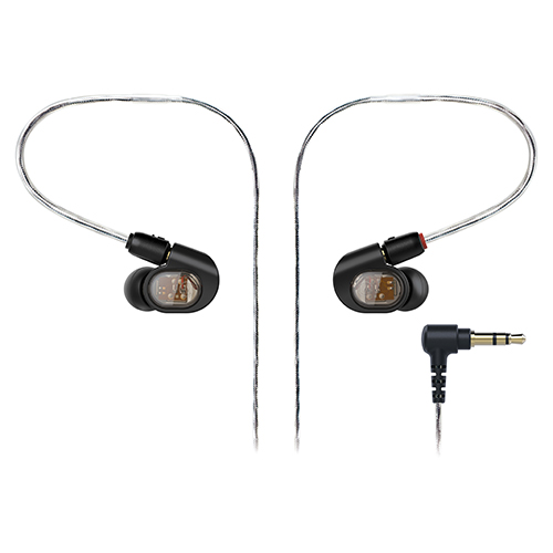 Audio-Technica ATH-E70 Professional In-Ear Monitor Headphones, flexible memory cable