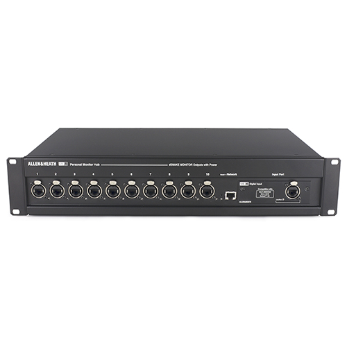 Allen & Heath ME-U 10 Port PoE Monitor HUB, onboard network port,