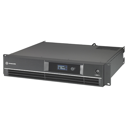 Dynacord Electronics L2800FD-US DSP power amplifier 2x1400W. With FIR drive, XLR/NL4 connectors.
