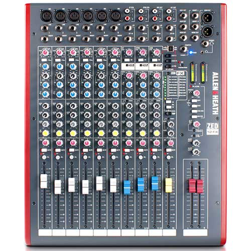 Allen & Heath ZED-12FX Zed-10FX with 60mm Faders