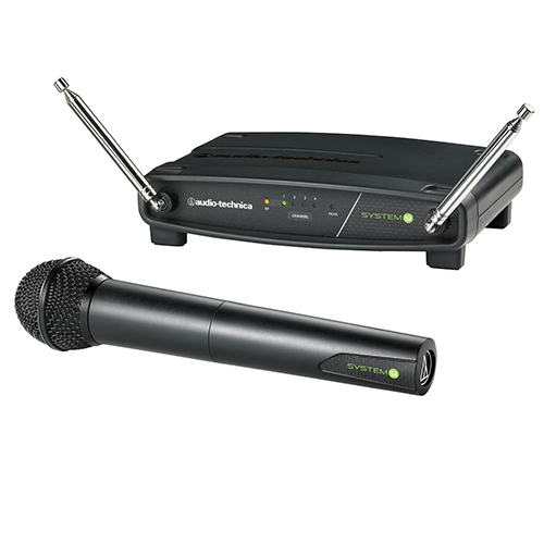 Audio-Technica ATW-902a ATW-R900a receiver and ATW-T902a handheld dynamic unidirectional microphone/transmitter.
