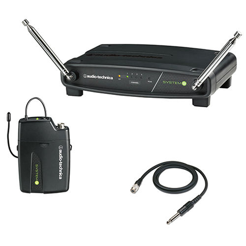 Audio-Technica ATW-901a/G ATW-R900a receiver and ATW-T901a body-pack transmitter with AT-GcW guitar/instrument input cable.