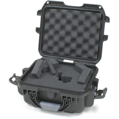 "Gator GU-0907-05-WPDF Black waterproof injection molded case 9.4"" x 7.4"" x 5.5"", DICED FOAM"