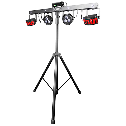 Chauvet DJ GigBAR 2.0 Includes wireless footswitch, stand, carry bags
