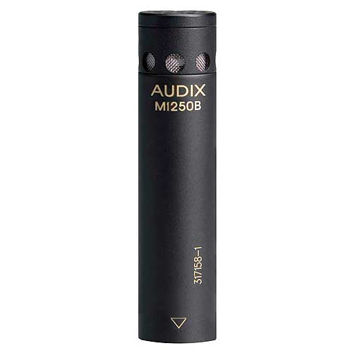 Audix M1250B Micro condenser microphone with RFI Immunity.  With integrated preamp. Black