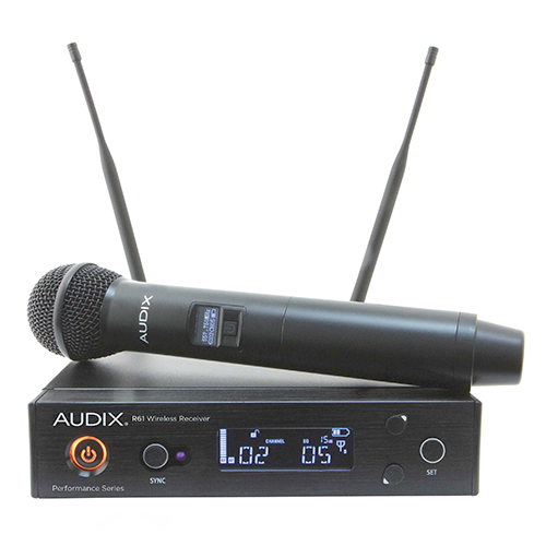 Audix AP61OM2 R61 receiver with H60/OM2 handheld transmitter. 522-586Mhz