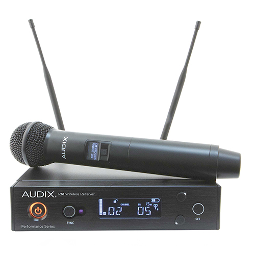 Audix AP61OM5 R61 receiver with H60/OM5 handheld transmitter. 522-586Mhz