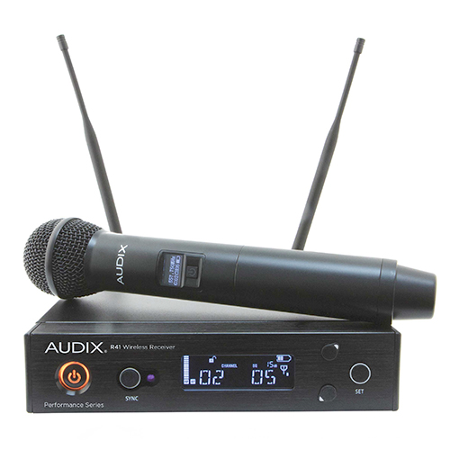 Audix AP41OM5A Wireless, R41 receiver with H60/OM5 handheld transmitter. Frequency A
