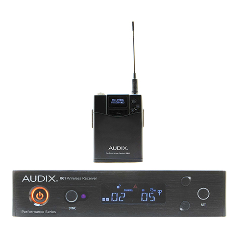 Audix AP61BPR61 receiver with B60 bodypack transmitter only. No microphone. 522-586Mhz