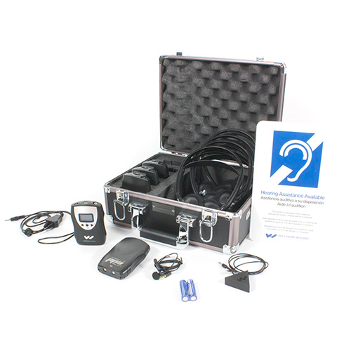 Williams Sound FM ADA KIT 37 FM ADA compliance kit for one presenter and up to four listeners.