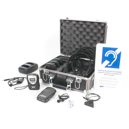 Williams Sound FM ADA KIT 37 RCH Rechargeable FM ADA compliance kit for one presenter and up to four listeners.