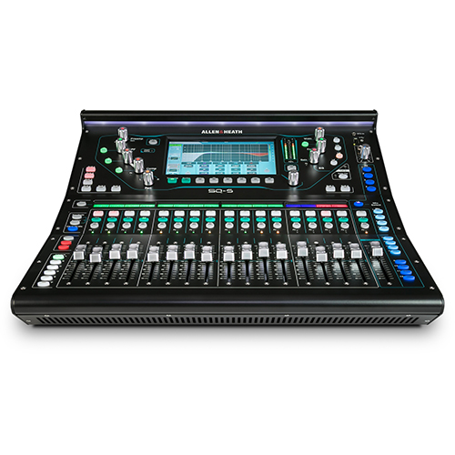 Allen & Heath SQ-5 96kHz XCVI FPGA processing, 48 Input Channels, 17 Faders