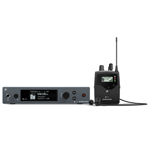 Sennheiser ew IEM G4-A Wireless stereo monitoring set. Frequency range:A (516 - 558 MHz)