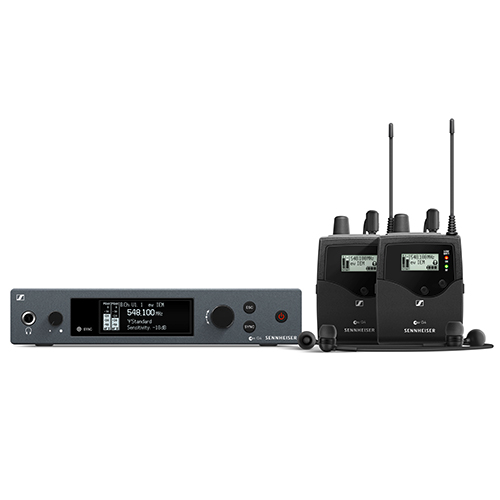 Sennheiser ew IEM G4-TWIN-A Wireless stereo monitoring twin set. Frequency range: A (516 - 558 MHz)