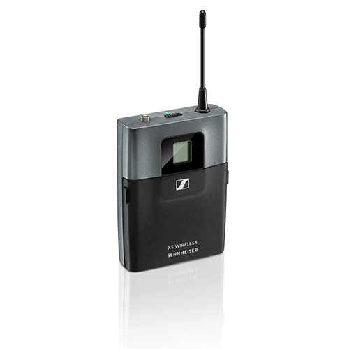 Sennheiser SK-XSW-A Bodypack transmitter with mic / line inputs and mute switch, frequency range: A (548-572 MHz)