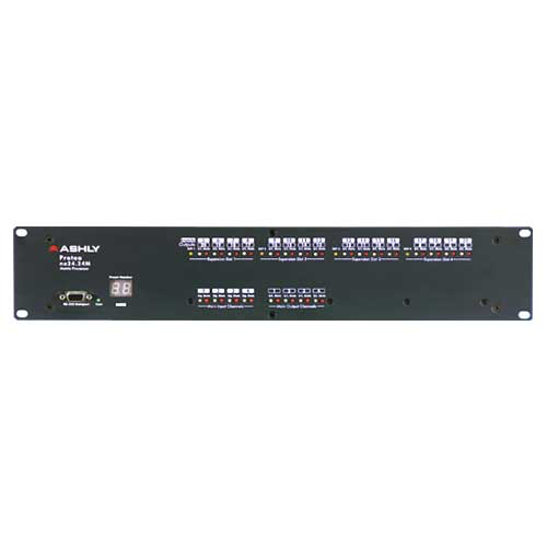 Ashly ne24.24M 4x4 Logic Protea DSP Audio Matrix Processor 4-In x 4-Out with Logic Card