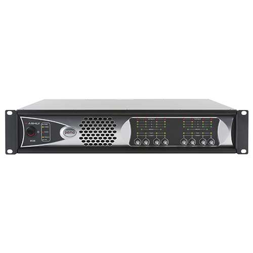 Ashly pema 8125 pema Network Power Amp 8 x 125W @ 4 Ohms & 25V Constant Voltage w/ 8x8 Protea DSP
