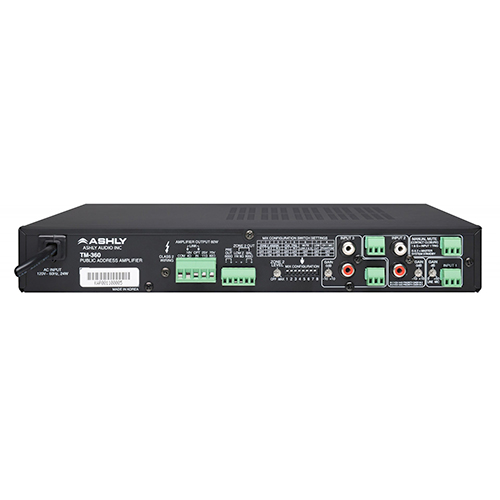 Ashly TM-360 60-Watt 3-Input Mixer/Amp with Xfmr Isolated Constant-Voltage & 4 Ohm Outputs