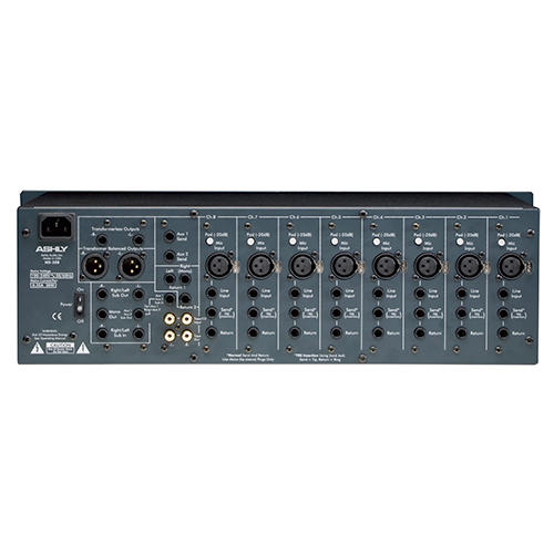 Ashly MX-508 Mixer 8 Input Stereo with EQ & Sends, 3U