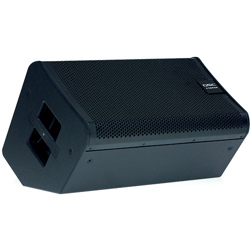 "QSC E110 10"" 2-way, externally powered, live sound-reinforcement loudspeaker. Available in black only."