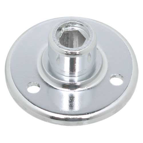"Atlas AD-12B Surface Mount Male Mic Flange 5/8""-27 Thread"