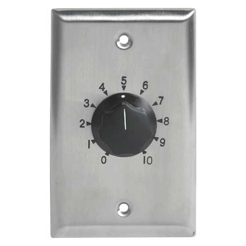 Atlas AT35 35 Watt Single Gang Stainless Steel 70.7V Commercial Attenuator