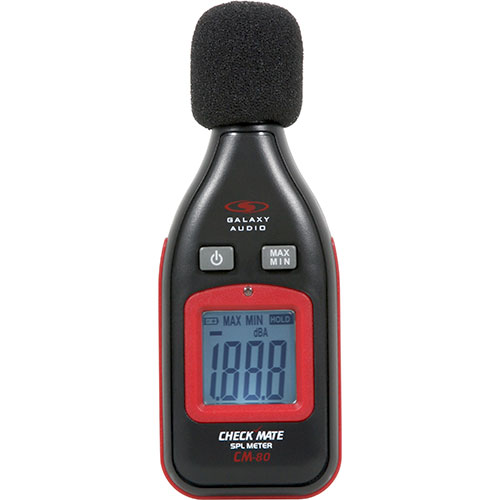 Galaxy Audio CM80 MINI SPL METER: Palm sized SPL meter 30-130dBA with Max hold
