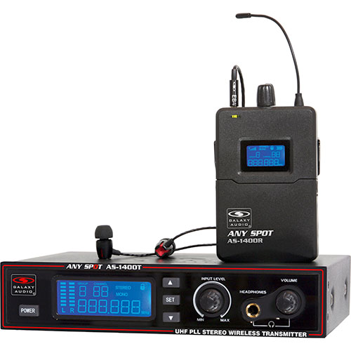 Galaxy Audio AS-1400 1400 SERIES WPM W/EB4: 275 selectable channels, includes 1 AS-1400T, 1 AS-1400R, EB4 earbuds, rack ears