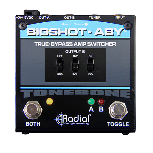 Radial BigShot ABY ABY switcher, true-bypass with transformer isolation and tuner out