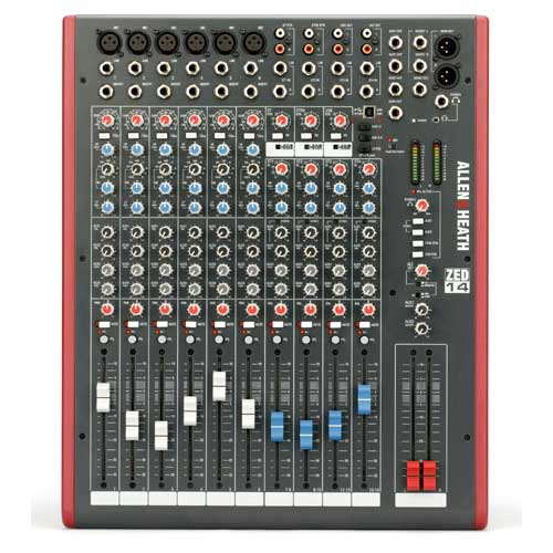 Allen & Heath ZED-14 USB Mixer 14 Channel Multipurpose Mixer