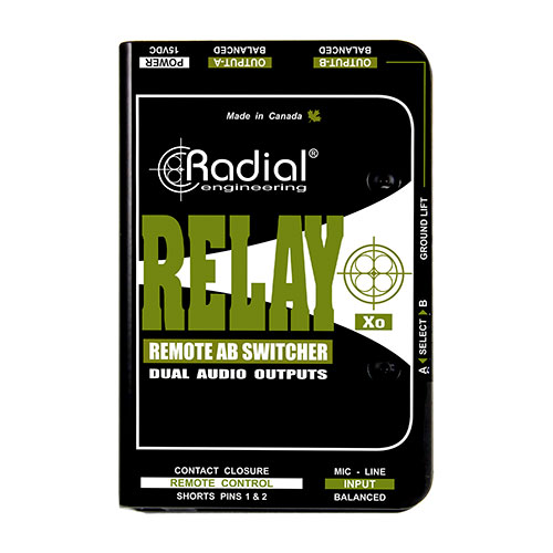 Radial Engineering Relay XO Balanced AB wireless signal router, may be remotely controlled