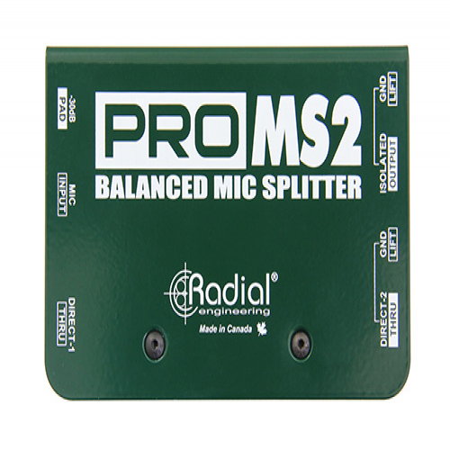 Radial Engineering ProMS2 Mic splitter, passive with 1-input, 2-direct outs & 1 Eclipse isolated output