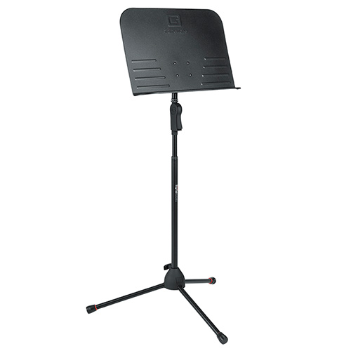 Gator GFW-MUS-2000 Frameworks tripod style sheet music stand with deluxe single hand clutch height adjustment