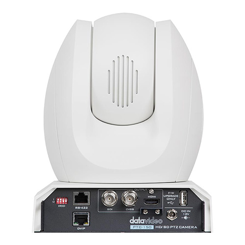DataVideo PTC-150W White HD/SD-SDI PTZ camera. Ideal for worship applications.