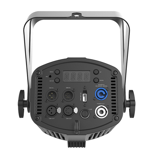 Chauvet DJ EVE P-150 UV, Robust blacklight cannon with 40 UV LEDs emitting 150 watts of blacklight power, PowerCON