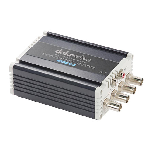 DataVideo DAC-50S HD/SD-SDI to Component/Composite Converter with built-in up/down scaler and audio de-embedder.