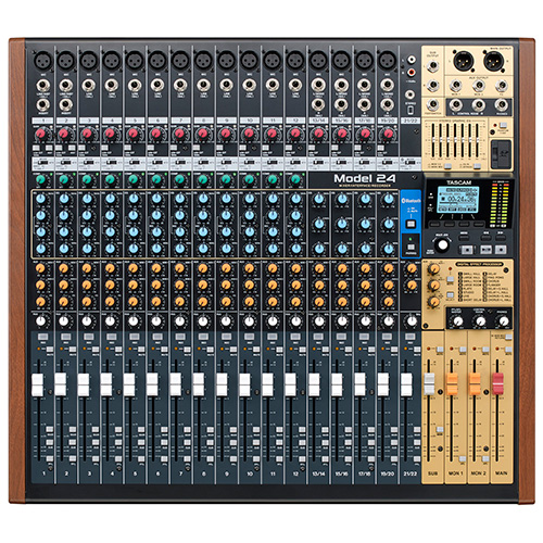 Tascam MODEL 24, 24 Channel Multitrack Recorder with Integrated USB Audio Interface and Analog Mixer