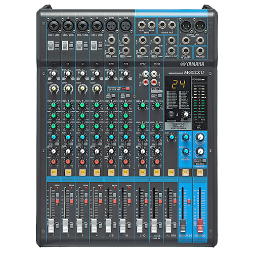 Yamaha MG12XU-CA 12-input, 4-bus mixer, effects, 4 channels of single-knob compression