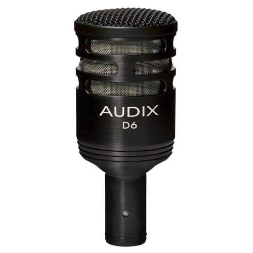 Audix D6 Dynamic Instrument and Kick Drum Microphone